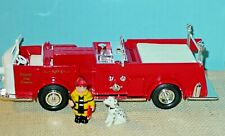 ERTL CAMPBELL SOUP FIRE ENGINE WITH KID AND DOG -  MINT