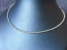 "14"" - 22"" glass beaded collar choker necklace Grey Glass Seed Bead #2"