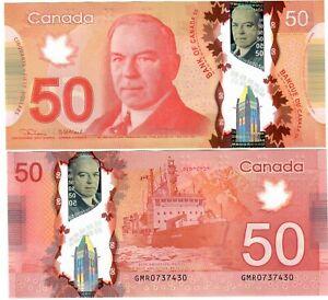 "Canada 50 Dollars 2012 (2021) aUNC ""GMR"" Lane-Macklem"