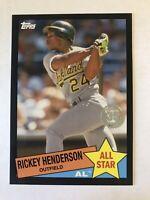 Rickey Henderson 2020 Topps 1985 Baseball All-Stars BLACK /299  Oakland A's HOF