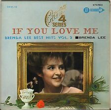"BRENDA LEE ""IF YOU LOVE ME"" 60'S EP DECCA DXW 18 JAPON !"