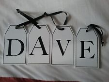 Wooden Alphabet Tag 'DAVE' NEW