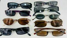 Lot of 9 Women's Eyeglass Frames w/Polarized Sun Clips