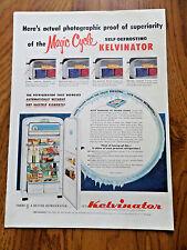 1952 Kelvinator Refrigerator Ad Magic cycle Self-Defrosting Photographic Proof