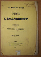 ÉDITION ORIGINALE VICTOR HUGO 1851  DISCOURS PEINE DE MORT