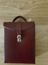 Dulwich Designs jewelry box burgundy oxblood travel case genuine leather