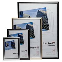 Premium Easy Load Certificate Poster Frames in Black Silver Gold & Smoke A3 A4
