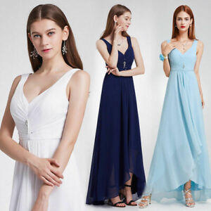 Evening Dress Bridesmaid Party Gown Prom Long Formal Maxi Lace Ladies Women09983