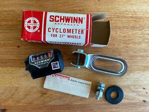 NOS Vintage Schwinn Cyclometer Complete Part# 02 827 Made in Japan