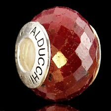 Alducchi Faceted Ruby .925 Sterling Silver European Charm Bead