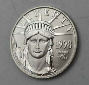 1998 AMERICAN EAGLE $25  .9995 1/4 OZ PLATINUM LIBERTY UNITED STATES Of AMERICA