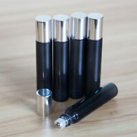 10ml Empty Glass Roll On Bottle Essential Oil Roller Ball Bottles Perfume Set &&