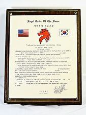 "US Air Force/Red Horse Unit 554 - ""Royal Order of the Horse"" Plaque"