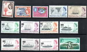 Tristan da Cunha Mint Collection of QEII 80+ Stamps Many Sets