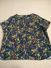 Marks and spencer Size 20 Abstract Print Summer Top Blouse PERFECT