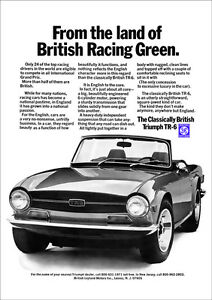 TRIUMPH TR6 RETRO A3 POSTER PRINT FROM CLASSIC 70'S ADVERT 1971