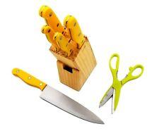 7 Pieces Kitchen Knife Set, 5 Knives, 1 Scissor, 1 Wooden Block
