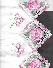 Vintage set 2 Embroidered Crochet Pillowcases