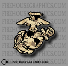 USMC Marine Corp EGA Veteran Eagle Desert Digital Camo vinyl sticker decal