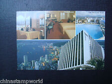 old China hk postcard,Harbour view Holiday inn,used