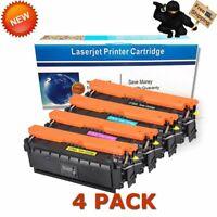 4x Toner CF360A 508A Black Color Set for HP Laserjet Enterprise M553x MFP M577c