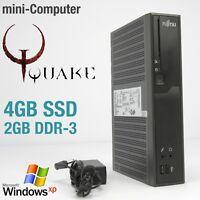 MINI COMPUTER FUJITSU FÜR WINDOWS XP 4GB SSD 2GB DDR3 RS-232 3D ATI HD6250 QUAKE