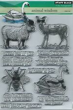 """Animal Wisdom"" Transparent Stamp Set by Penny Black"