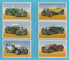 CARS  -  ROLLS ROYCE CARS  -  SET  OF  25  BENTLEY  CARS  1ST  CARDS - 1986