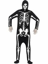 "Skeleton Costume, Chest 34""-36"", Halloween Adult Fancy Dress #AU"