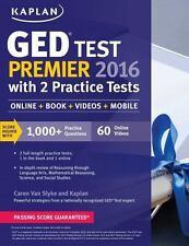 Kaplan GED Test Premier 2016 with 2 Practice Tests Online, Book, Videos & Mobil