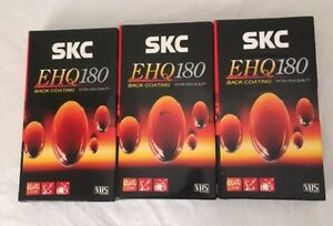 3 Blank VHS Video Tapes SKC  Brand New Factory 3 Hour Video tapes