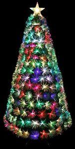 7 Colors Changing LED Fiber Optic Christmas Tree Pre-lit
