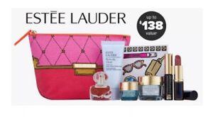 ESTEE LAUDER 8pc 24hr Hydration Gift Bag Makeup Skincare $138 GWP