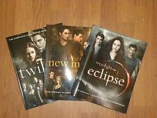 Lot of 3 Twlight - New Moon - Eclipse  -Illustrated Movie Companion Books - EUC