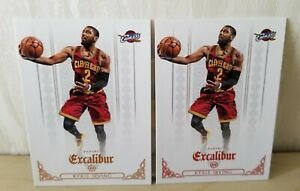 Lot 2 Kyrie IRVING 2014-15 Panini Excalibur #120 + #120 Red / Cleveland / Mint+