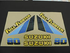 1983 Suzuki RM 80 COMPLETE DECAL SET (8 PC) AHRMA VINTAGE MOTOCROSS