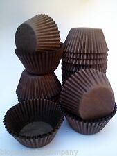 500 x Brown Paper Mini Cupcake Base Baking Cup 3.8cm base commercial qual (L398)
