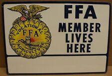 Vintage 1950`s 60`s FFA Embossed tin sign ( # 8A)