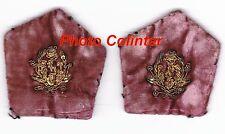 Officier Médecin - Ecussons de col pour veste mle 1938/1939 - Velours amarante