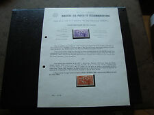 FRANCE - document ministere des ptt 1962 (europa) french
