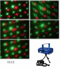 6 in 1 LED Laser Bühnenlicht Disco Party Lichteffekt Licht Lampe Projektor GX6D