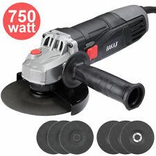 Smerigliatrice Angolare 750W Flex Frullino 125mm 6 Dischi e Manico Regolabile