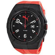 Puma Iconic Red Black Dial Red Rubber Sports Mens Watch PU103501005U