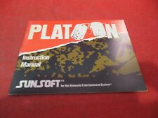 Platoon Nintendo NES Instruction Manual Booklet ONLY