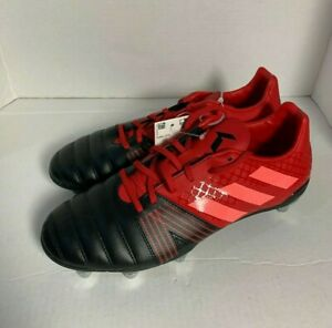 Adidas Kakari SG Soft Ground Rugby Cleats Men's Size 9 EF3397 Black Red *NWT*