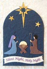 2 Nativity Manger Christmas Baby Jesus mulberry paper cards cardmaking scrapbook