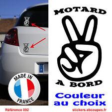 Stickers motard à bord - Couleur au choix - 092