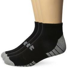 Under armour HEATGEAR Tech Sin Corte Calcetines 3 Pack Negro/Gris Hombre Medio