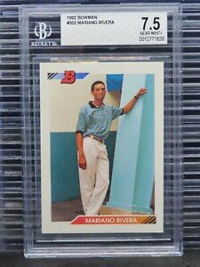 1992 Bowman Mariano Rivera Rookie Card RC #302 BGS 7.5 Yankees O62