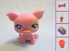 Littlest Pet Shop #885 Peach & Pink Pig With Purple Splotch Eyes +1 Free Access